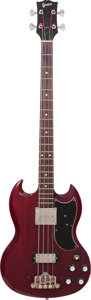 Musical Instruments:Bass Guitars, Late 1970's Greco EB500 Cherry Electric Bass Guitar, Serial # 0 9338....
