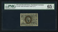 Fr. 1246 10¢ Second Issue PMG Gem Uncirculated 65 EPQ