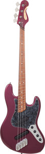 Musical Instruments:Bass Guitars, Circa 2010 Dingwall Super J Plum Crazy Purple Electric BassGuitar....