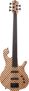 Musical Instruments:Bass Guitars, 2011 Drake Darla Natural 5-String Fretless Electric Bass Guitar....