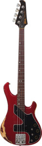 Musical Instruments:Bass Guitars, 1981 Gibson Victory Artist Red Electric Bass Guitar, Serial # 82221547....