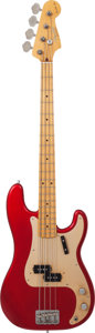 "Musical Instruments:Bass Guitars, 1990's Fender Limited Edition Donald ""Duck"" Dunn Precision Bass Red Electric Bass Guitar, Serial # 026...."