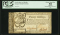 Colonial Notes:Georgia, Georgia October 16, 1786 20s PCGS Apparent Choice About New 55.. ...