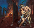Original Comic Art:Covers, Luis Dominguez - Roman Romance Paperback Novel Cover PaintingOriginal Art (undated)....