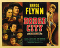 "Movie Posters:Western, Dodge City (Warner Brothers, 1938). Half Sheet (22"" X 28"") StyleB...."