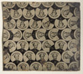 Photography:Tintypes, Horatio Seymour: An Original Uncut Sheet of 1868 CampaignFerrotypes....