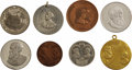 Political:Tokens & Medals, Benjamin Harrison: A Collection of Eight 1888-1892 Political and Inaugural Medals in Choice Condition.... (Total: 8 Items)