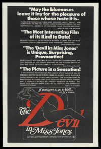 """The Devil in Miss Jones (MB Productions, 1973). One Sheet (27"""" X 41""""). Adult"""
