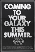 "Movie Posters:Science Fiction, Star Wars (20th Century Fox, 1977). Mylar Advance One Sheet (26.75""X 41""). Science Fiction. ..."