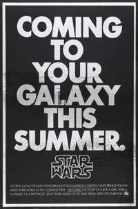 "Star Wars (20th Century Fox, 1977). Mylar Advance One Sheet (26.75"" X 41""). Science Fiction"