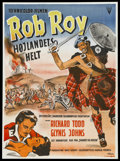 "Movie Posters:Adventure, Rob Roy, the Highland Rogue (RKO, 1954). Swedish One Sheet (27.5"" X39.5""). Adventure...."
