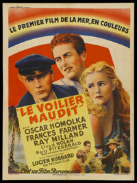 "Ebb Tide (Paramount, 1937). French Petite (23.5"" X 31.5""). Adventure"