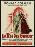 "Movie Posters:Adventure, If I Were King (Paramount, 1938). French Petite (23.5"" X 31.5"").Adventure. ..."