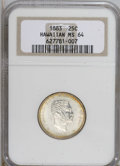 Coins of Hawaii, 1883 25C Hawaii Quarter MS64 NGC....