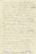 """Autographs:Celebrities, Jack Ruby Autograph Manuscript in pencil, not signed, two pages, 4""""x 6"""", front and verso. No date. In full, """"One nite abo...(Total: 1 Item)"""