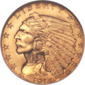 Indian Quarter Eagles, 1914-D $2 1/2 MS65 NGC....