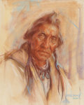 Western:20th Century, Harley Brown (American, b. 1939). Nawa, 1979. Pastel on paper. 20-1/4 x 16-1/4 inches (51.4 x 41.3 cm) (sight). Signed, ...
