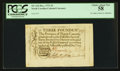 Colonial Notes:North Carolina, North Carolina December, 1771 £3 PCGS Choice About New 58.. ...