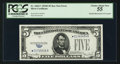 Error Notes:Obstruction Errors, Fr. 1654* $5 1934D Silver Certificate. PCGS Choice About New 55.....