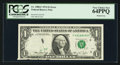 Error Notes:Printed Tears, Fr. 1908-F $1 1974 Federal Reserve Note. PCGS Very Choice New64PPQ.. ...