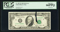 Error Notes:Printed Tears, Fr. 2027-H $10 1985 Federal Reserve Note. PCGS Gem New 66PPQ.. ...