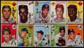 Baseball Cards:Sets, 1954 Topps Baseball Partial Set (84/250)....