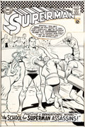 Original Comic Art:Covers, Curt Swan and George Klein Superman #188 Cover Original Art(DC, 1966)....