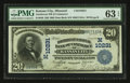 National Bank Notes:Missouri, Kansas City, MO - $20 1902 Date Back Fr. 646 The Southwest NB ofCommerce Ch. # (M)10231. ...
