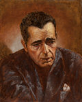 Fine Art - Painting, American:Contemporary   (1950 to present)  , Richard Headley (American, 20th Century). Humphrey Bogart, 1995. Oil on canvas. 20 x 16 inches (50.8 x 40.6 cm). Signed ...