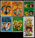 Non-Sport Cards:Singles (Post-1950), 1959-61 Topps Funny Valentines Collection (375+)....
