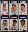 Baseball Cards:Lots, 1981-89 Perez-Steele Signed Hall of Fame Postcards Lot of 6....