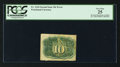 Fractional Currency:Second Issue, Fr. 1244 Milton 2R10.1c 10¢ Second Issue Inverted Surcharges PCGS Very Fine 25.. ...