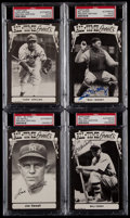 Baseball Cards:Lots, 1973 TCMA Signed All-Time Greats Postcards Lot of 4....
