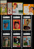 Baseball Cards:Lots, 1911-74 Multi-Brand Baseball Collection (10) With Mays &Banks....