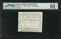 Colonial Notes:North Carolina, North Carolina April 23, 1761 20s PMG Choice Uncirculated 63 Net.....