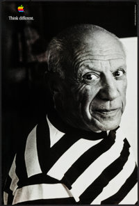 """Pablo Picasso for Apple Computers & Other Lot (Apple, 1997). Advertising Posters (2) (24"""" X 36""""). Miscella..."""