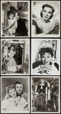"""Movie Posters:Musical, Judy Garland from Meet Me in St. Louis & Others Lot (MGM, 1940s-1960s). Portrait and Scene Photos (10) (8"""" X 10""""). Musical.... (Total: 10 Items)"""