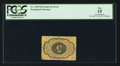 Fractional Currency:First Issue, Fr. 1229 Milton 1R5.2d 5¢ First Issue Inverted Back PCGS Fine 15.....