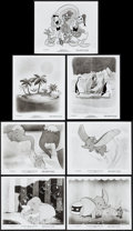 """Movie Posters:Animation, Dumbo & Other Lot (Buena Vista, R-1976). Photos (7) (8"""" X 10"""").Animation.. ... (Total: 7 Items)"""