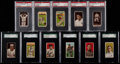 Baseball Cards:Lots, 1909-12 T202 T206 T207 & T212 Tobacco Graded Collection(14)....