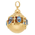 Estate Jewelry:Other , Glass, Gold Charm. ...