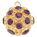 Estate Jewelry:Other , Amethyst, Gold Charm. ...