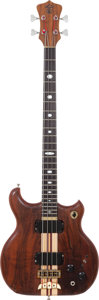 Musical Instruments:Bass Guitars, Circa 1982 Alembic Distilate Natural Electric Bass Guitar. ...