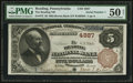 National Bank Notes:Pennsylvania, Reading, PA - $5 1882 Brown Back Fr. 472 The Reading NB Ch. # 4887....