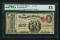 National Bank Notes:Illinois, Monmouth, IL - $1 Original Fr. 382 The Monmouth NB Ch. # 1706. ...
