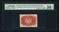 Fractional Currency:Second Issue, Fr. 1321-SP Milton 2E50R.4b Second Issue Experimental Inverted Surcharges PMG Choice About Unc. 58 EPQ . ...