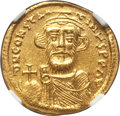Ancients:Byzantine, Ancients: Constans II Pogonatus (AD 641-668). AV solidus (4.40gm)....