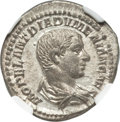 Ancients:Roman Imperial, Ancients: Diadumenian, as Caesar (AD 217-218). AR denarius (3.52 gm)....