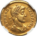 Ancients:Roman Imperial, Ancients: Theodosius I the Great (AD 379-395). AV solidus (4.45 gm)....