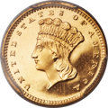 Proof Gold Dollars, 1857 G$1 PR66 Deep Cameo PCGS....